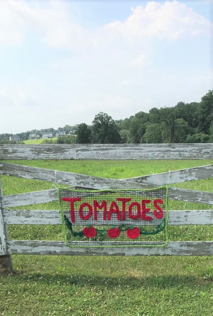 Tomatoes for Sale - Roadside Sign - Yarnbombing All Season Sign