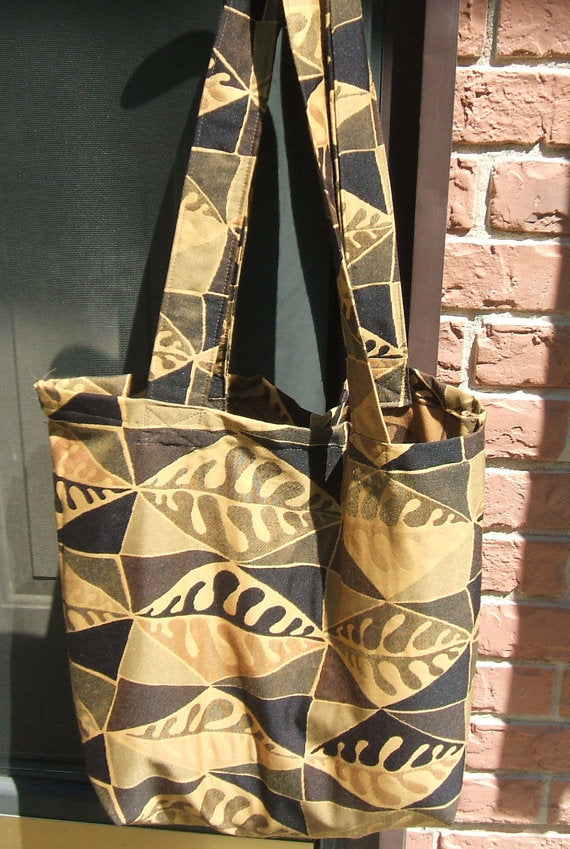 Grocery Market Carry All Tote Bag Leaves Upholstery Fabric ... bfe04b8af442