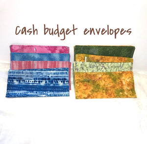 Cash Budget Envelopes Fabric  - Set of 2