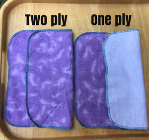"Reusable Non Paper Towel Set - Select a Size 6"" x 12"""