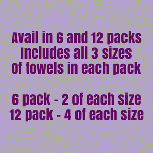 Paper Towels Cotton Flannel Print Milky Way Galaxy 3 size assortment pack