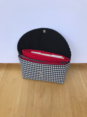 Budget Wallet Organizer System Houndstooth with Red