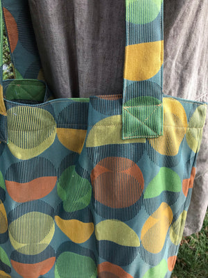 Carry all Tote Green Circles