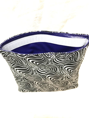 Reusable Sandwich bag Eco Friendly Black White Swirl