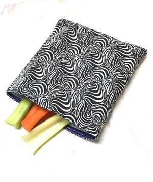 Reusable Sandwich bag Eco Friendly Purple Green