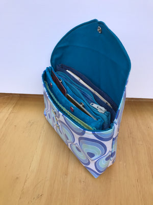 Wallet Budget Organizer System Waterproof Blue Drops