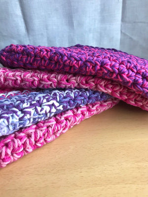 Double Thick Pink and Purple Wash Cloth