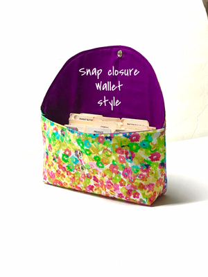 Coupon Holder Organizer Floral in Watercolor