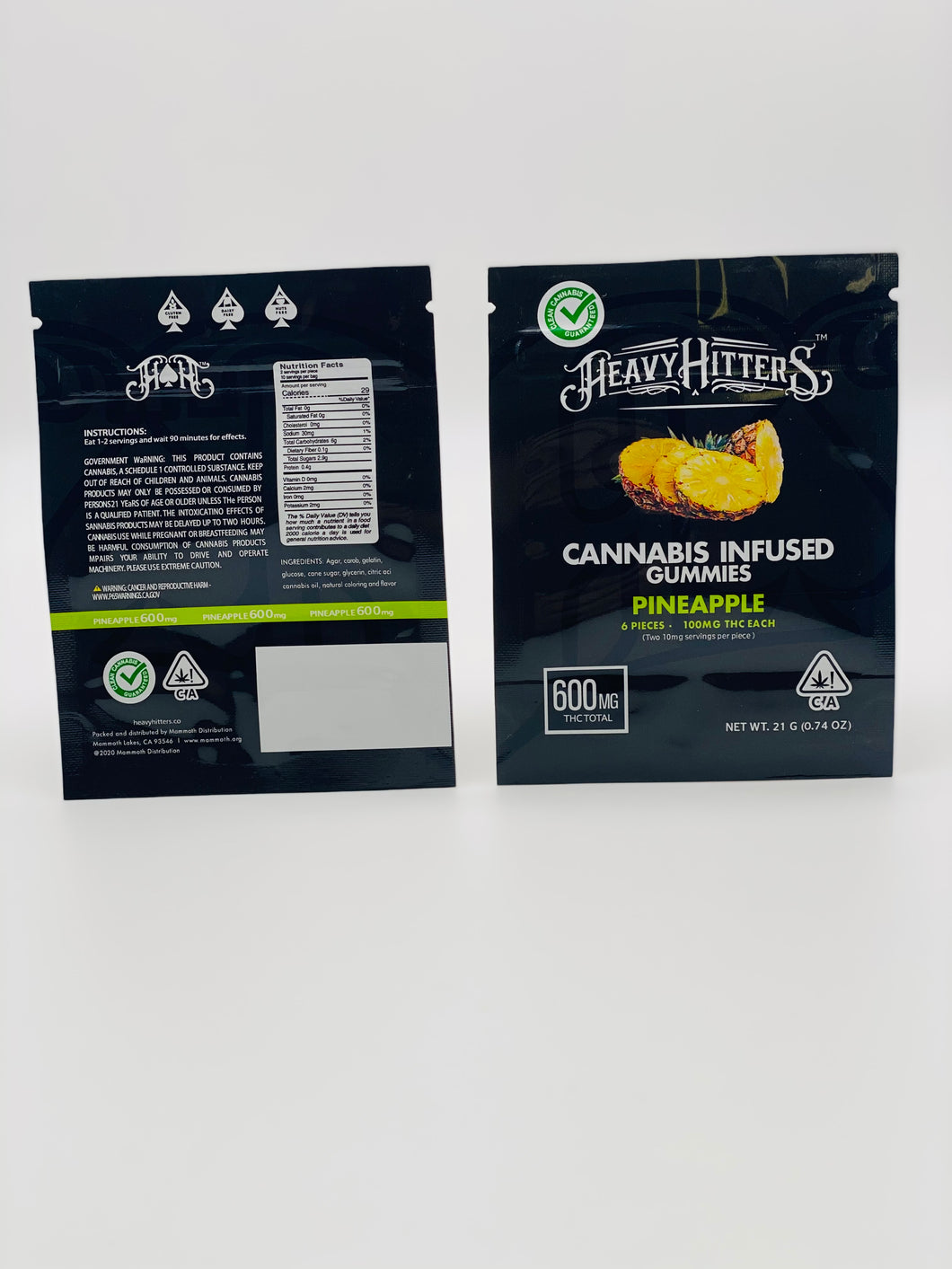 Heavy Hitters Pinapple Gummies Edibles