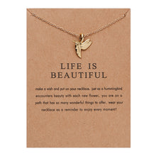 "Load image into Gallery viewer, PATCO ""LIFE IS BEAUTIFUL"" NECKLACE"