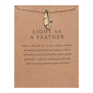 "PATCO ""LIGHT AS A FEATHER"" NECKLACE"