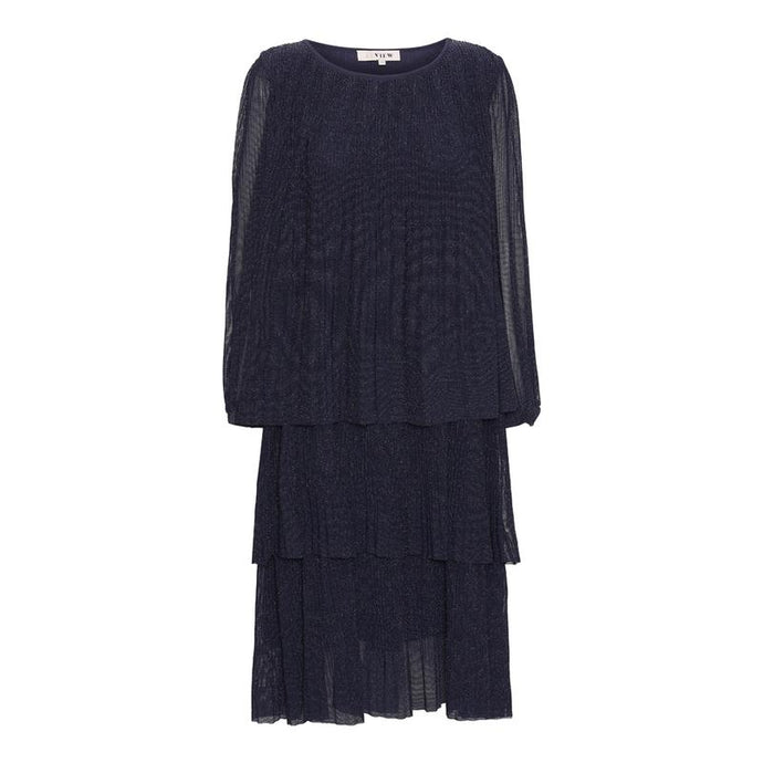 Ilja Ls lurex dress / Navy