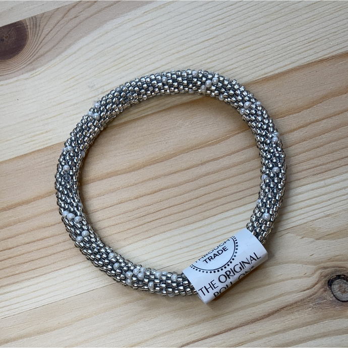 Nepal perle armbånd / roll on bracelet #31