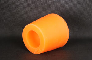 "Silicone Standard Wooden Barrel Bungs for 60 / 53 gallon (225/200 L) Wooden Barrels - 2"" Recessed Safety - Orange"