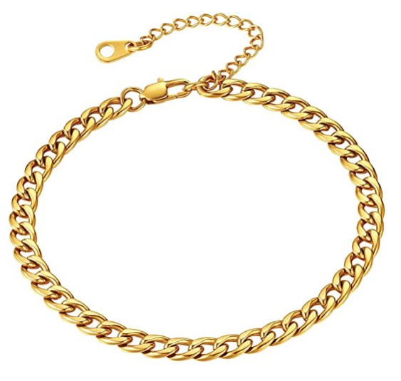 LAUREN CURB CHAIN ANKLET