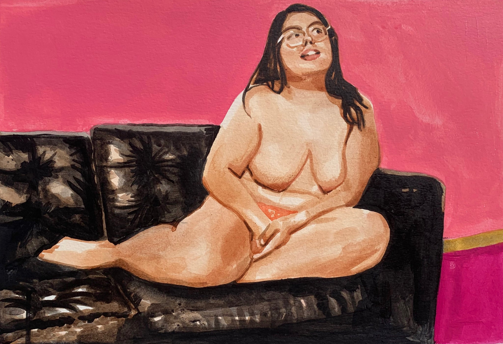 """Woman on Couch"""
