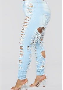 Entanglement Distressed Jeans