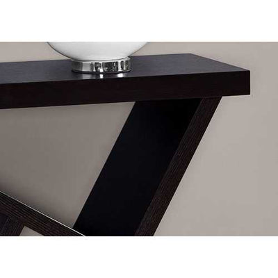 "11'.5"" x 35'.5"" x 34"" Cappuccino, Particle Board, Hollow-Core - Accent Table"