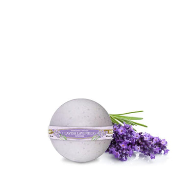 GoGreen Hemp CBD Bath Bombs Lavish Lavender 40MG