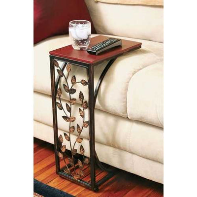 Leaf Scroll Side Sofa Tray Snack Table
