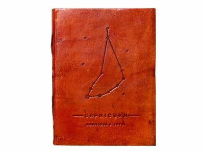 Capricorn Zodiac Handmade Leather Journal