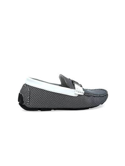 Double H Buckle Loafer White