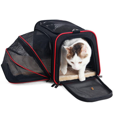 Expandable Pet Carrier for Small Dogs Cats Soft Sided Crate Airline Approved Kennel Car Travel Bag Multifunction Pet Carrier