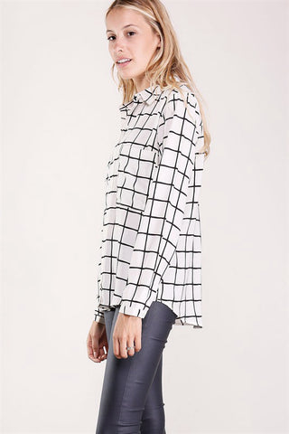 Cameron Grid-Pattern Shirt