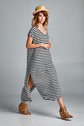 Heather Side-Slit Maxi Dress