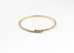 Gold Crystal Cubic Band