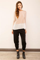 Megan Layered Dolman Top
