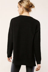 Teri Ribbed Knit Sweater