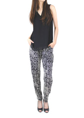 Alyssa Mixed Print Trousers