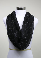 Black Nautical Scarf