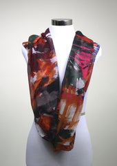 Orange Brush Stroke Scarf