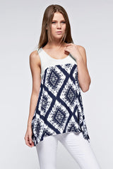 Michelle Aztec Print Top
