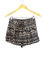 Christina Pleated Print Shorts