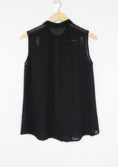 Julia Black Collared Blouse