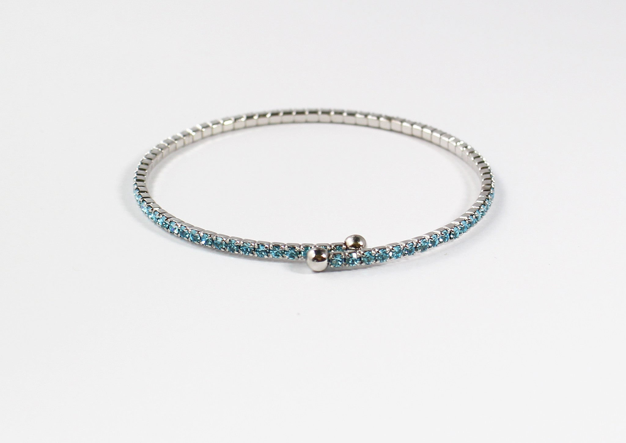 Blue Crystal Cubic Band