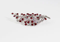 SWAROVSKI Crystal Red Tree Brooch