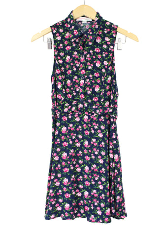 Catherine Navy Floral Dress