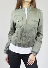 Malin Cotton-Twill Short Jacket