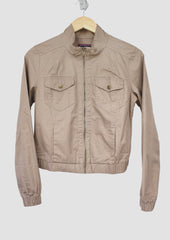 Malin Dark Olive Short Jacket