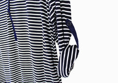 Monica Navy Stripe Top