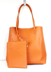 Miranda Orange Bi-Color Tote