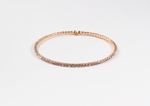 Rose Gold Crystal Cubic Band