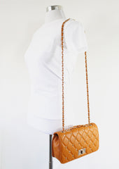 Alice Black Quilted Double-Chain Bag