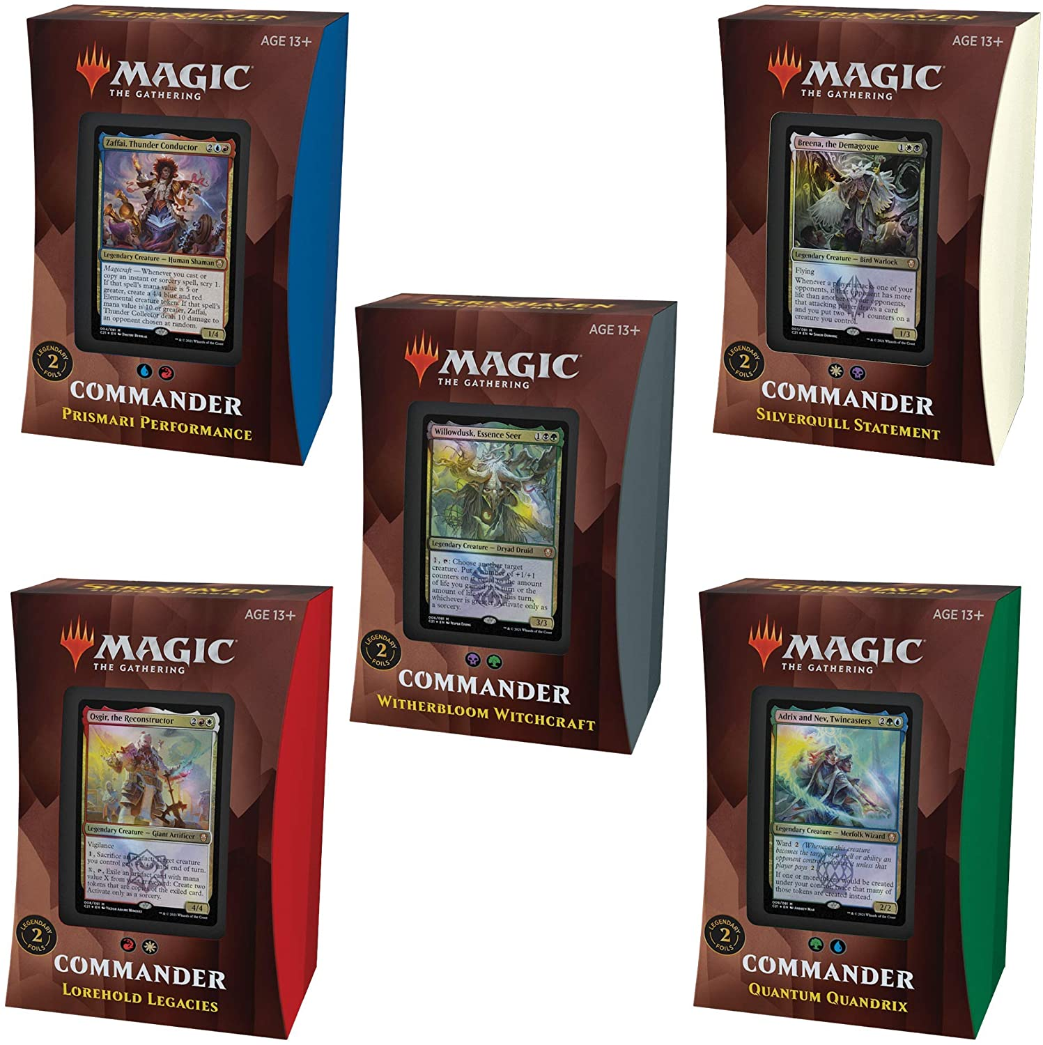 Strixhaven Commander Deck Set Bundle(5) Preorder