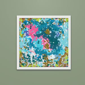 Serie Colorful camouflage 3/4  Printable Abstract Artwork