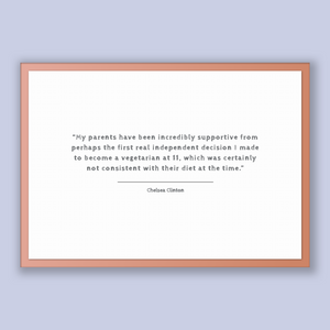 Chelsea Clinton Quote, Chelsea Clinton Poster, Chelsea Clinton Print, Printable Poster, My parents have been incredibly supportive from p...